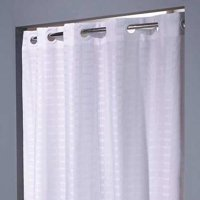 HOOKLESS HBH43LIT01SX Shower Curtain,White,74 In L,42 In W