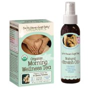 Earth Mama Angel Baby Organic Morning Wellness Tea with Natural Stretch Oil