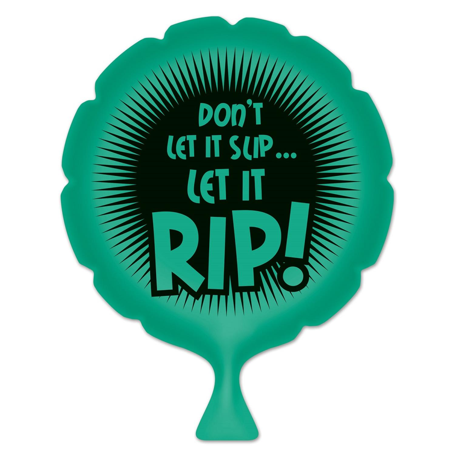 """Pack of 6 Green """"Don't Let It Slip"""" Whoopee Cushion April Fools Day Party Favors 8"""""""
