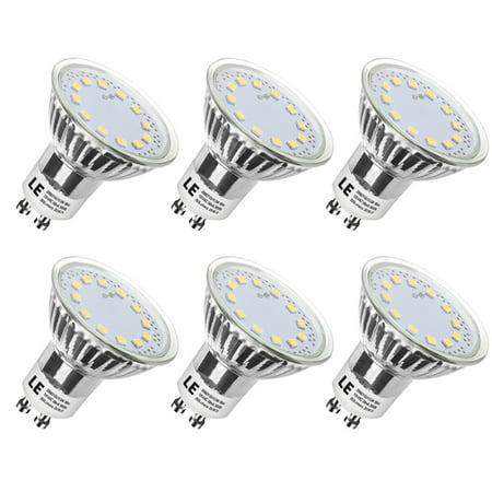 Lighting EVER 3W PAR16 GU10 LED Spot Light, 50W Halogen Bulb Equivalent, 350lm Condenser Lamp, Daylight White, Pack of 6 Units