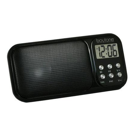 Boytone Portable VM Transistor Clock Radio with Alarm for $<!---->