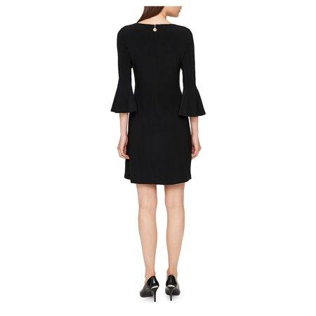 Best Solid Bell-Sleeve A-Line Dress deal
