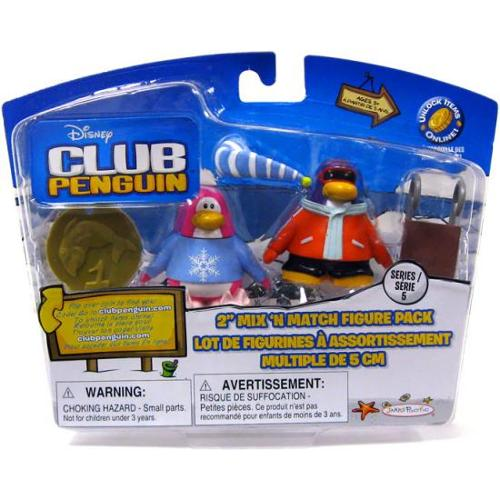 Pajama Bunny Slippers & Snowboarder Mini Figure Set Club Penguin