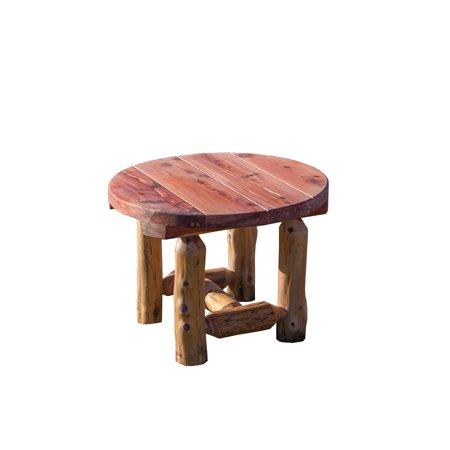 Furniture Barn USA™ Red Cedar Log Round Side
