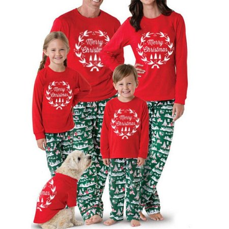 Christmas Family Matching Pajamas Set Adult Mens Womens Kids Sleepwear - Pajamas Family Christmas