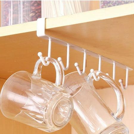 Jeobest Kitchen Cabinet Hanger Under Cabinet Hook Rack Mug Hook Under Cabinet Kitchen Mug Hooks Hanger Organizer Under Cabinet Shelf