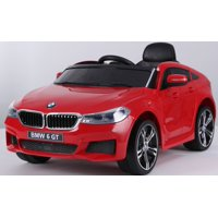 Ride on car BMW 6 GT 12V powered toy For Kids with Remote Control Leather Seat LED lights - Red