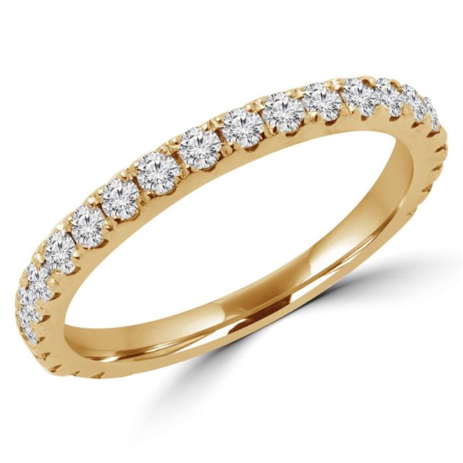 Majesty Diamonds MD170318-P 0.4 CTW Round Diamond Semi-Eternity Wedding Band Ring in 14K Yellow Gold - image 1 de 1