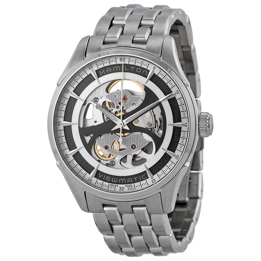 Hamilton Jazzmaster Viewmatic Grey Skeleton Dial Mens Watch H42555151 by Hamilton