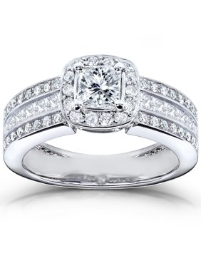 1915f59942c99 Product Image Annello by Kobelli 14k White Gold 1ct TDW Diamond Engagement  Ring