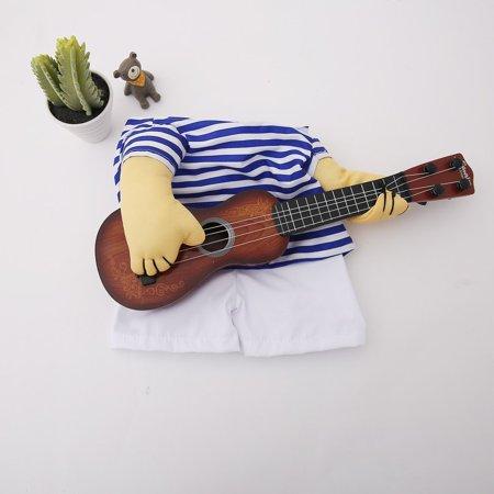 Funny Pet Guitar Clothes Dog Guitarist Dressing Costume Pet Guitar Dress - image 6 of 9