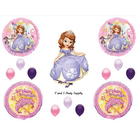 PRINCESS SOFIA THE FIRST Happy Birthday PARTY Balloons Decorations Supplies Disney - Sofia Balloons
