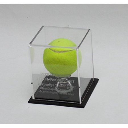 Tennis Ball Personalized Laser Etched - Engraved Acrylic Display Case - Custom Stand