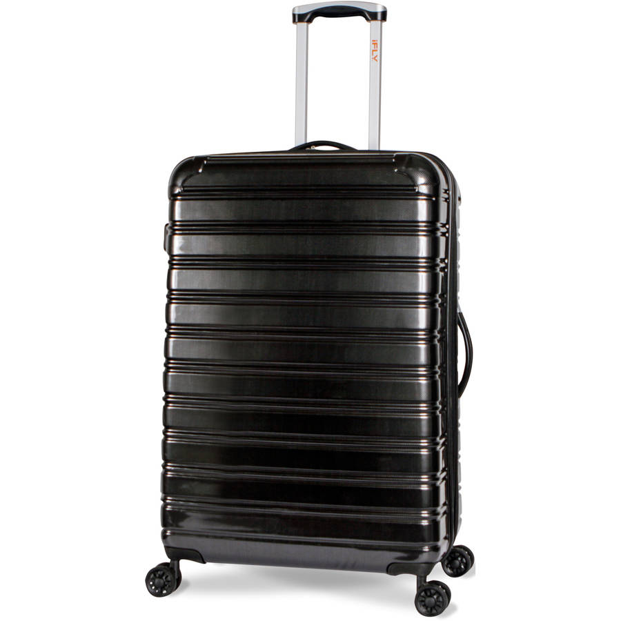 "iFLY Hard Sided Luggage Fibertech 28"", Black"