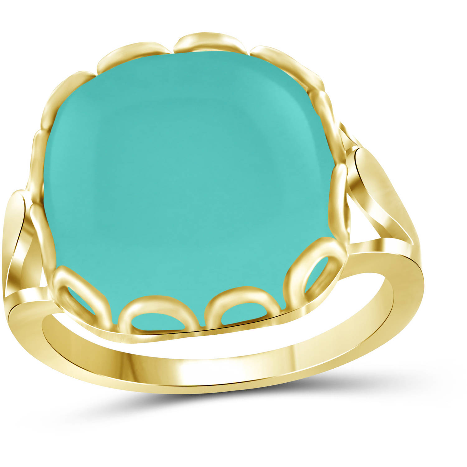 JewelersClub 10-3 4 Carat T.G.W. Chalcedony 14kt Gold over Silver Fashion Ring by JewelersClub