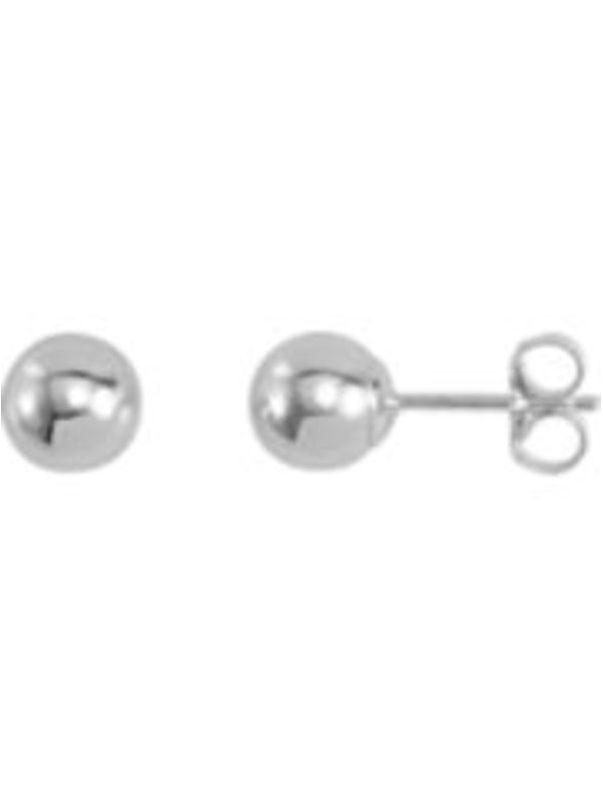 6 Sterling Silver Ball Stud Earrings 6mm