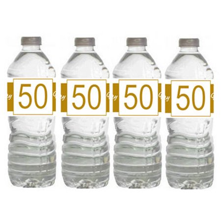 50th Birthday 15ct Water Bottle Labels