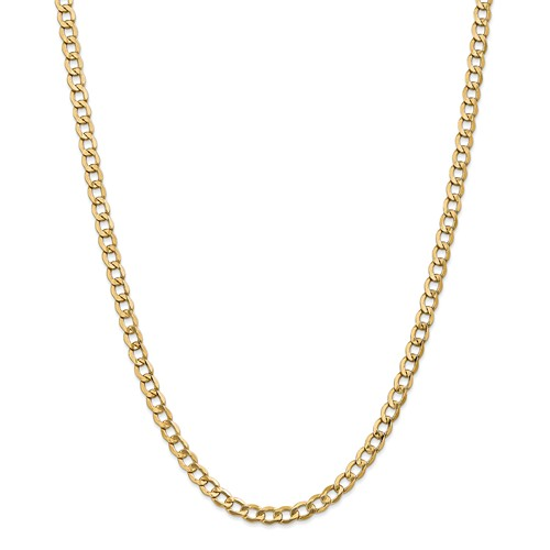 14k Yellow 20in Gold 5.25mm Lightweight Curb Link Necklace Chain by Jewelrypot