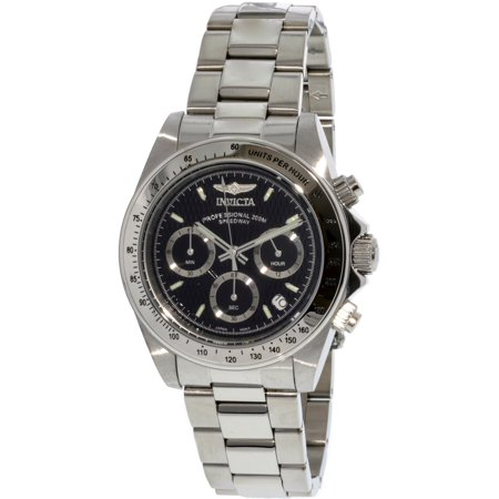 Chronograph Steel Red Dial (9223 Men's Stainless Steel Speedway Chronograph Black Dial Diver )