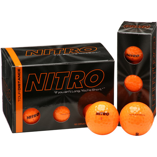 Nitro Tour Distance Dozen Orange Golf Balls, 24 Count by Nitro Golf LLC