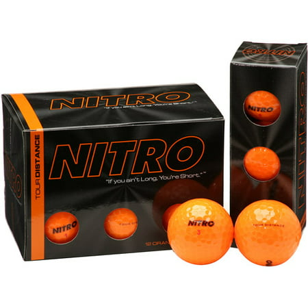 Nitro Golf Distance Golf Balls, Orange, 24 Pack