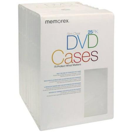 Memorex Slim DVD Video Storage Cases - 25 Pack - Clear - image 1 de 1