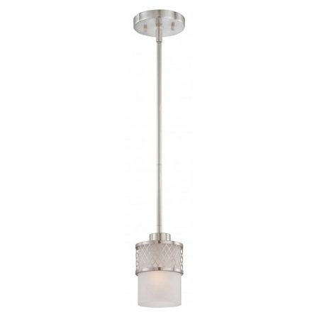 Nuvo Fusion 60/4688 1-Light Mini Pendant - 5W in. - Brushed