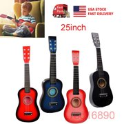 """US 25"""" Acoustic Guitar Pick 6 String Musical Tool for Kids Beginners Toy Gift-Red"""