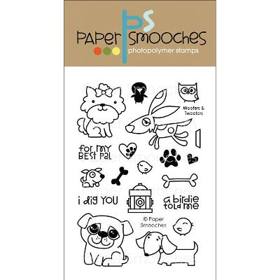 """Paper Smooches 4""""X6"""" Clear Stamps-Woofers & Tweeters"""
