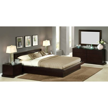 Zurich 4 pc bedroom set queen for Bedroom furniture zurich