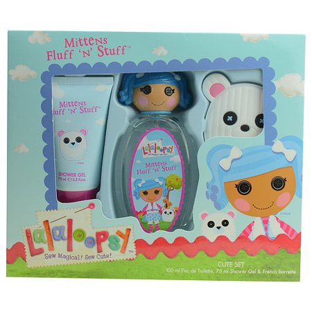 Marmol & Son 17688076 Lalaoopsy Mittens Fluff N Stuff By Marmol & Son Edt Spray 3.4 Oz & Shower Gel 2.5 Oz & Hair Accessory
