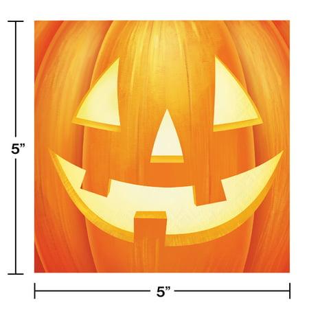 Halloween Pumpkin Beverage Napkins, 48 count