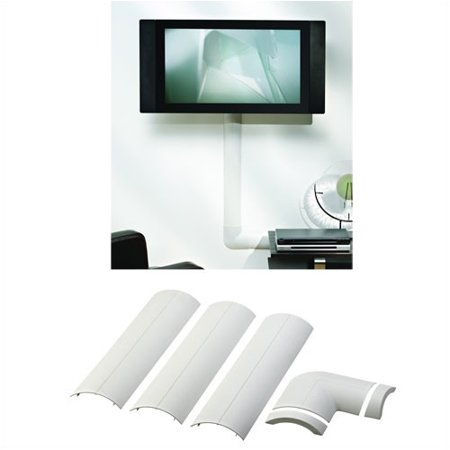 - Omnimount Full Size CMK Wall-Mounted Cable Management System, White