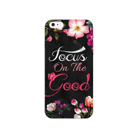 Floral Multicolor Focus On The Good Quote Motivational Inspirational Stylish Cute Phone Case - For Apple iPhone 6 Plus (Iphone 6 Cure Case)