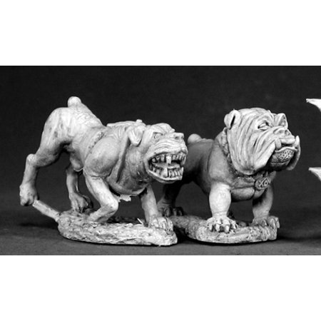 Reaper Miniatures Guard Dogs (2 Pieces) #03326 Dark Heaven Unpainted (Rapper Dog)