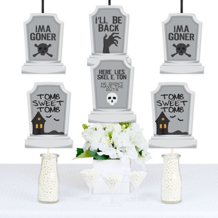Graveyard Tombstones - Decorations DIY Halloween Party Essentials - Set of 20 - Halloween Graveyard Clipart