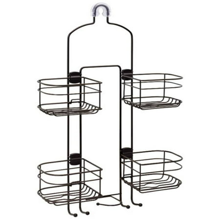 Better Homes & Gardens Expandable Hose Shower Caddy, Oil-Rubbed (Expandable Bathtub Caddy)