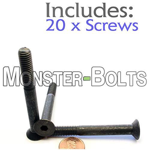Quantity 25 Stainless Steel A2-70 18-8 DIN 7991 M8-1.25 x 12mm Flat Head Socket Cap Screws