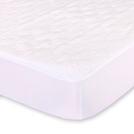 Waterproof Fitted Crib and Toddler Mattress Pad Cover and Protector by The Peanut Shell (Totter Water)