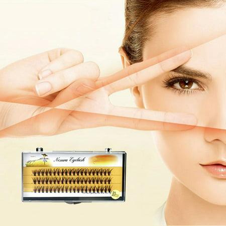 60pcs Individual Black Natural False Eyelash Cluster Eye Lashes Extension 6/8/10/12/14MM