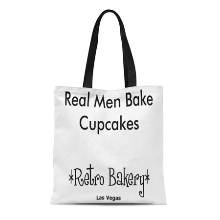 ASHLEIGH Canvas Tote Bag Las Real Men Cupcakes Vegas Reusable Handbag Shoulder Grocery Shopping Bags