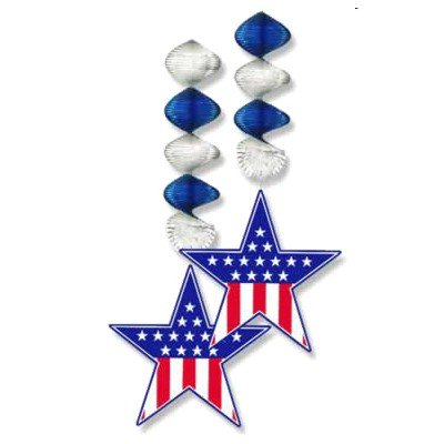 Patriotic Party Star Danglers (2 ct)