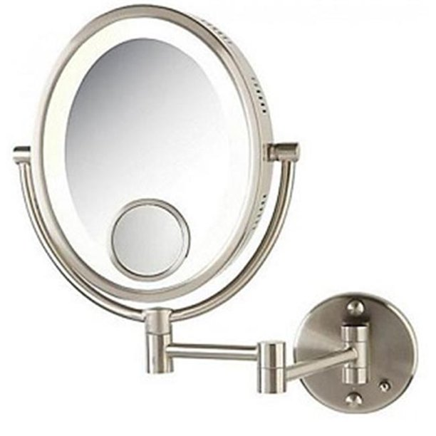 Jerdon HL9515N 8-Inch Lighted Wall Mount Oval Makeup ...