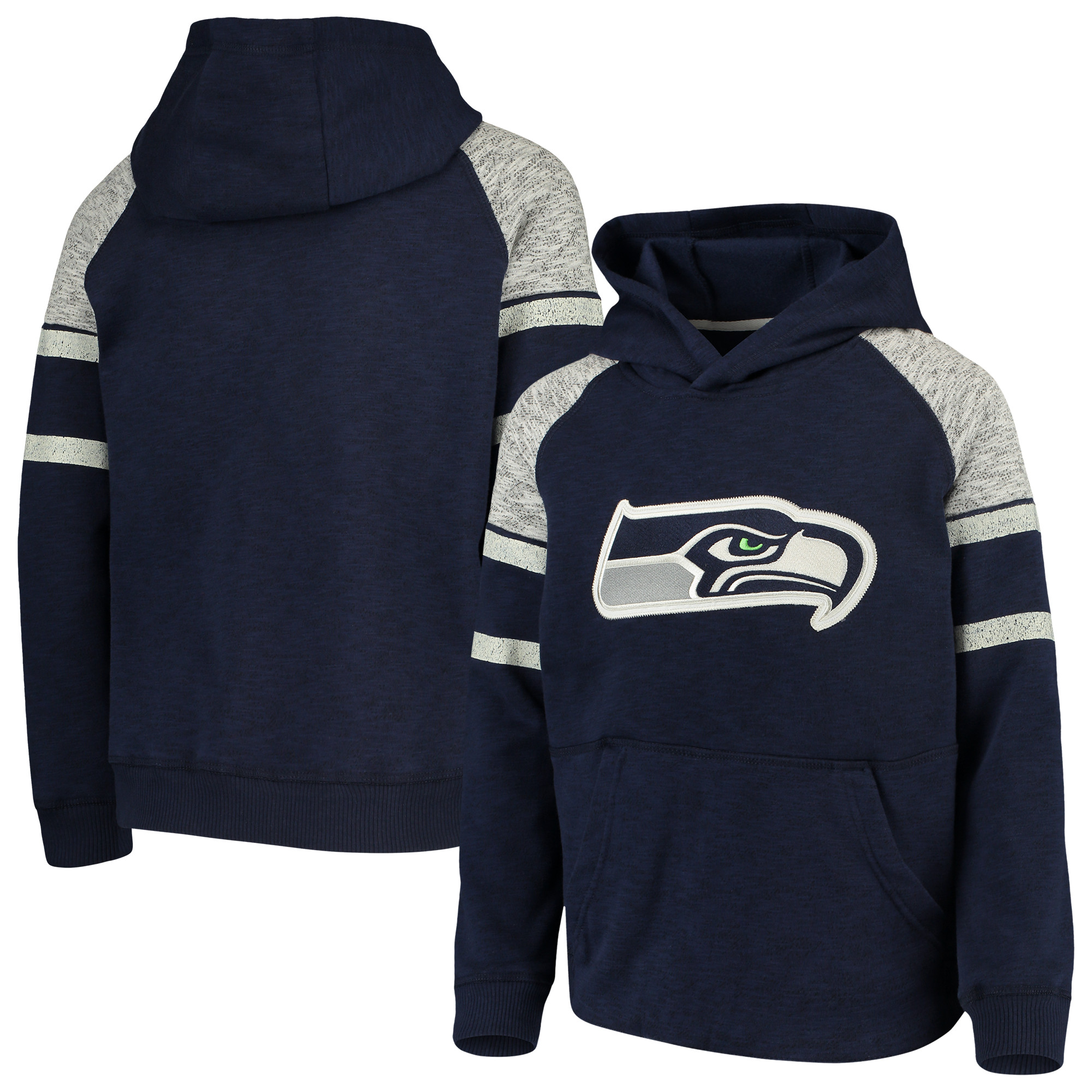 Seattle Seahawks Youth Linebacker Raglan Pullover Hoodie - College Navy