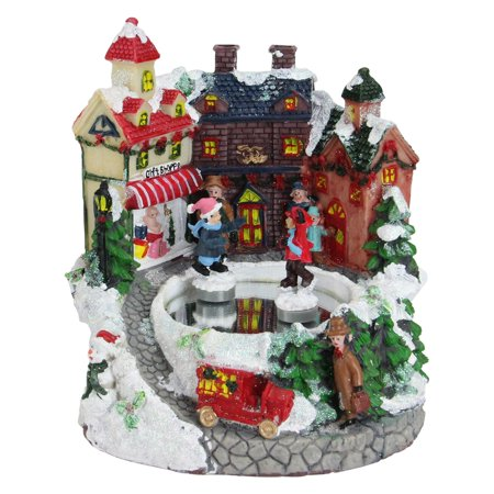 Northlight Victorian Street Winter Scene Rotating Christmas Music Box