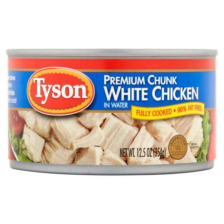 Tyson Premium White Chunk Chicken Breast In Water  12 5 Oz