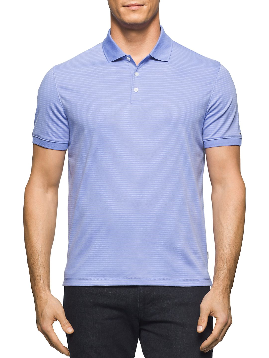 Muted Stripe Cotton Polo
