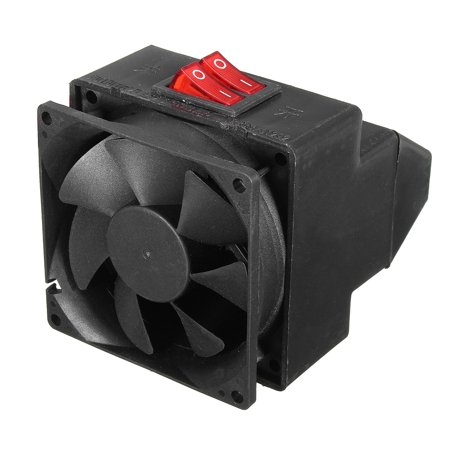 Adjustable 12v 300w 80℃ Dual Switchs Auto Car Mute Heating Fan Heater Windscreen Defroster Demister Color:black - image 5 of 12