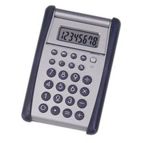 Skilcraft 8-Digit Flip-up Calculator Black Silver 4844559