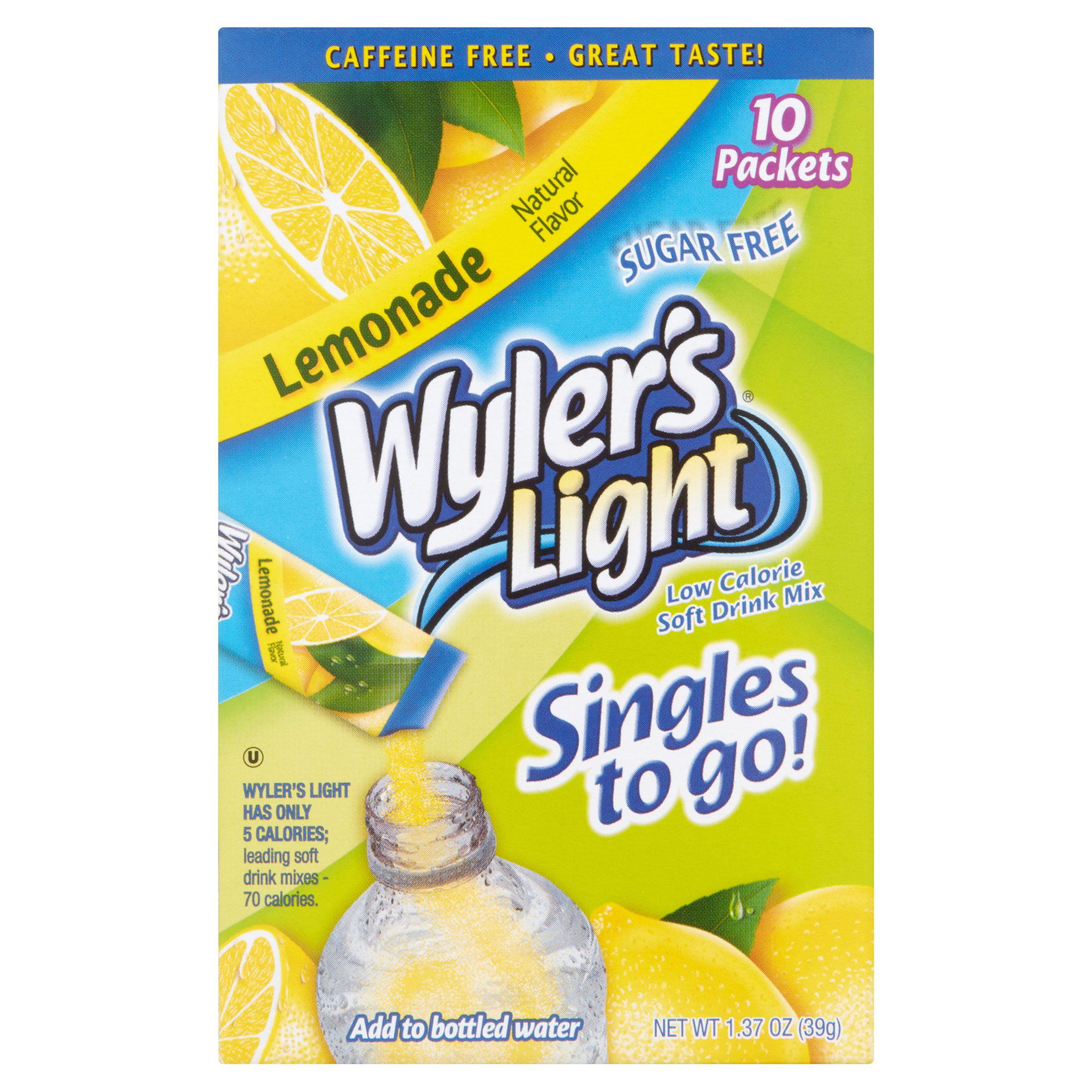 Wyler's Light Lemonade Drink Mix Sticks, 10 count, 1.36 oz